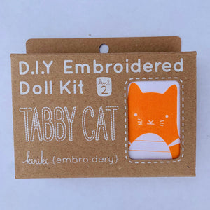Kiriki Press DIY doll kit Tabby Cat