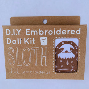 Kiriki Press DIY doll kit Sloth