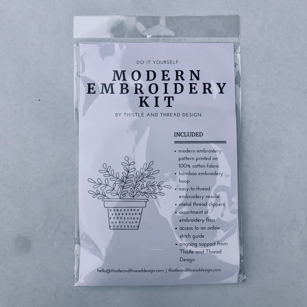 Thistle and Thread Modern Embroidery Kit Herbs