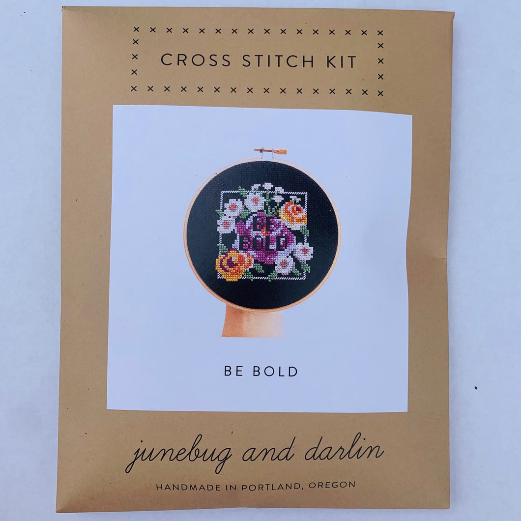 June Bug + DarlinCross Stitch Kits Be Bold