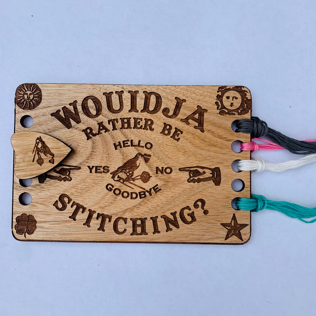 Ouija Board Embroidery Floss Organizer