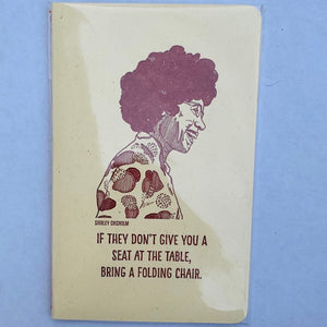 Notebook Shirley Chisholm