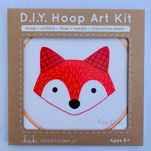 DIY Hoop Art Kit Fox