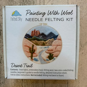 Painting With Wool Needle Felting Kit Desert Trail