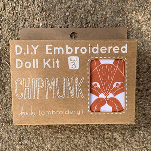 Kiriki Press DIY Doll Kit Chipmunk