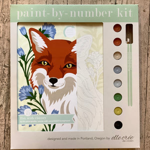 Paint by number fox with chicory