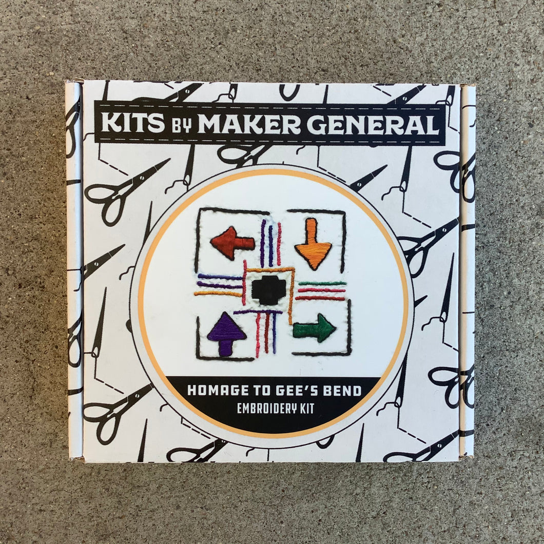 Maker General Homage to Gees Bend Embroidery Kit