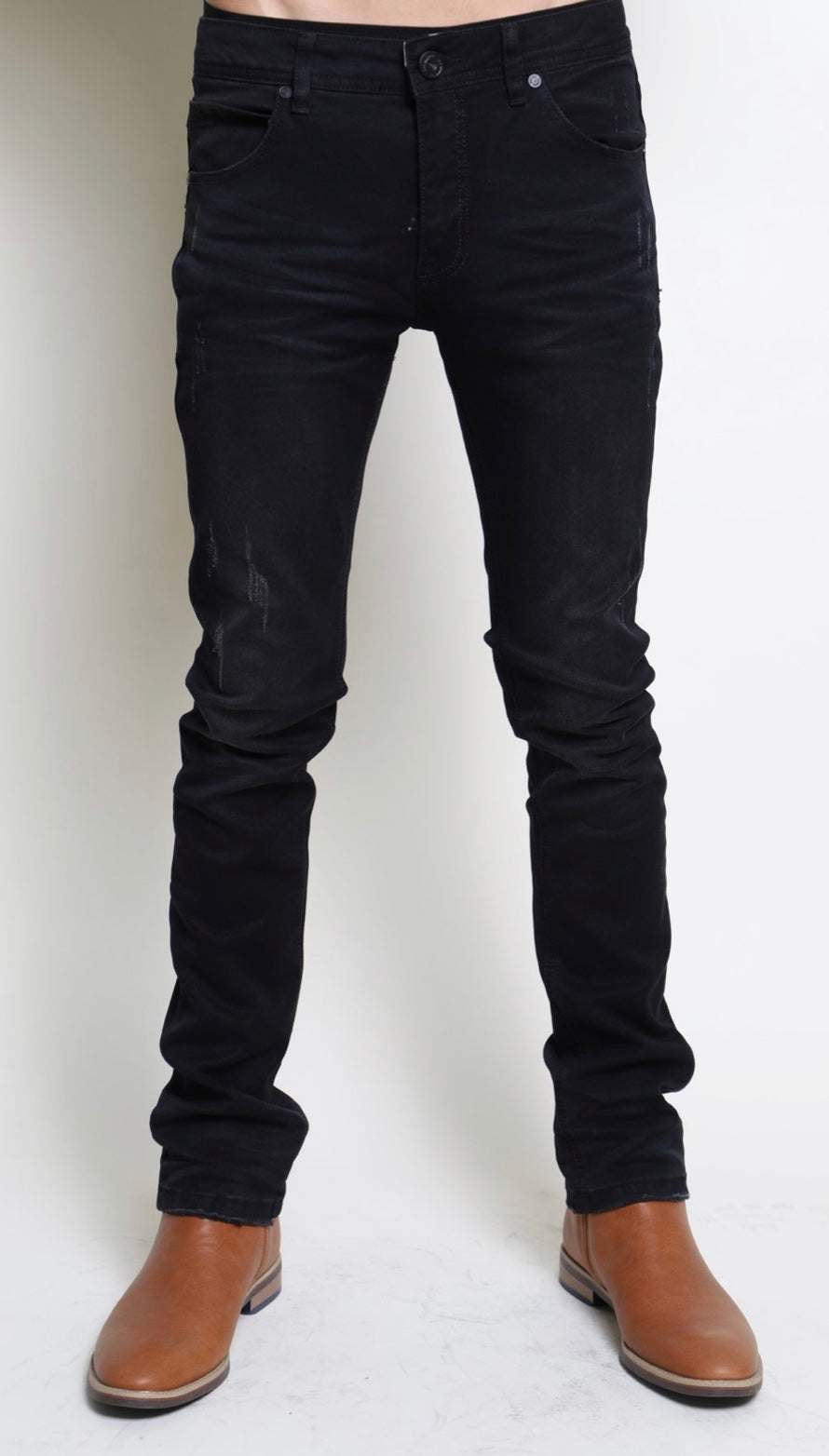 Mens Barabas black skinny denim 26953