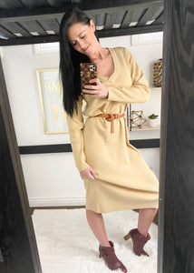 Camel Sweater dress 26881