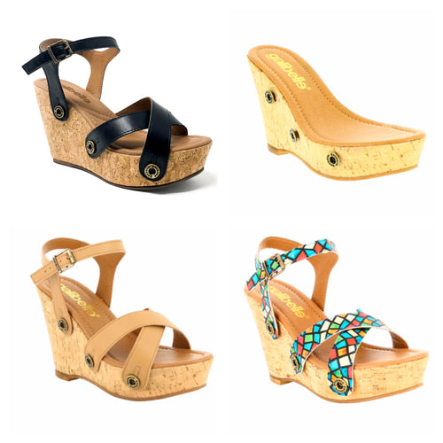 Giovanna wedge galipack 1 cork base 3 straps