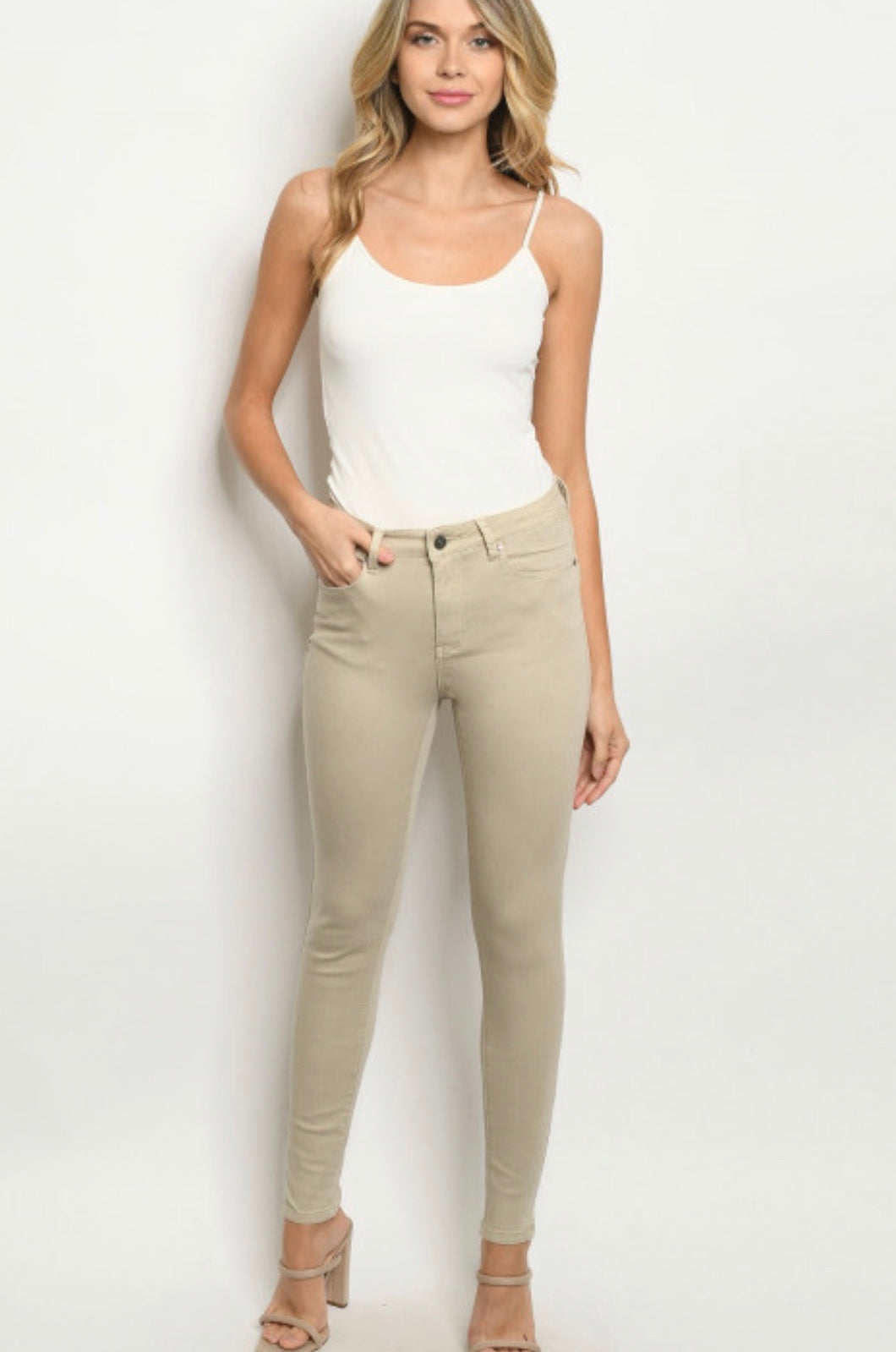 Nude denim pants 00069