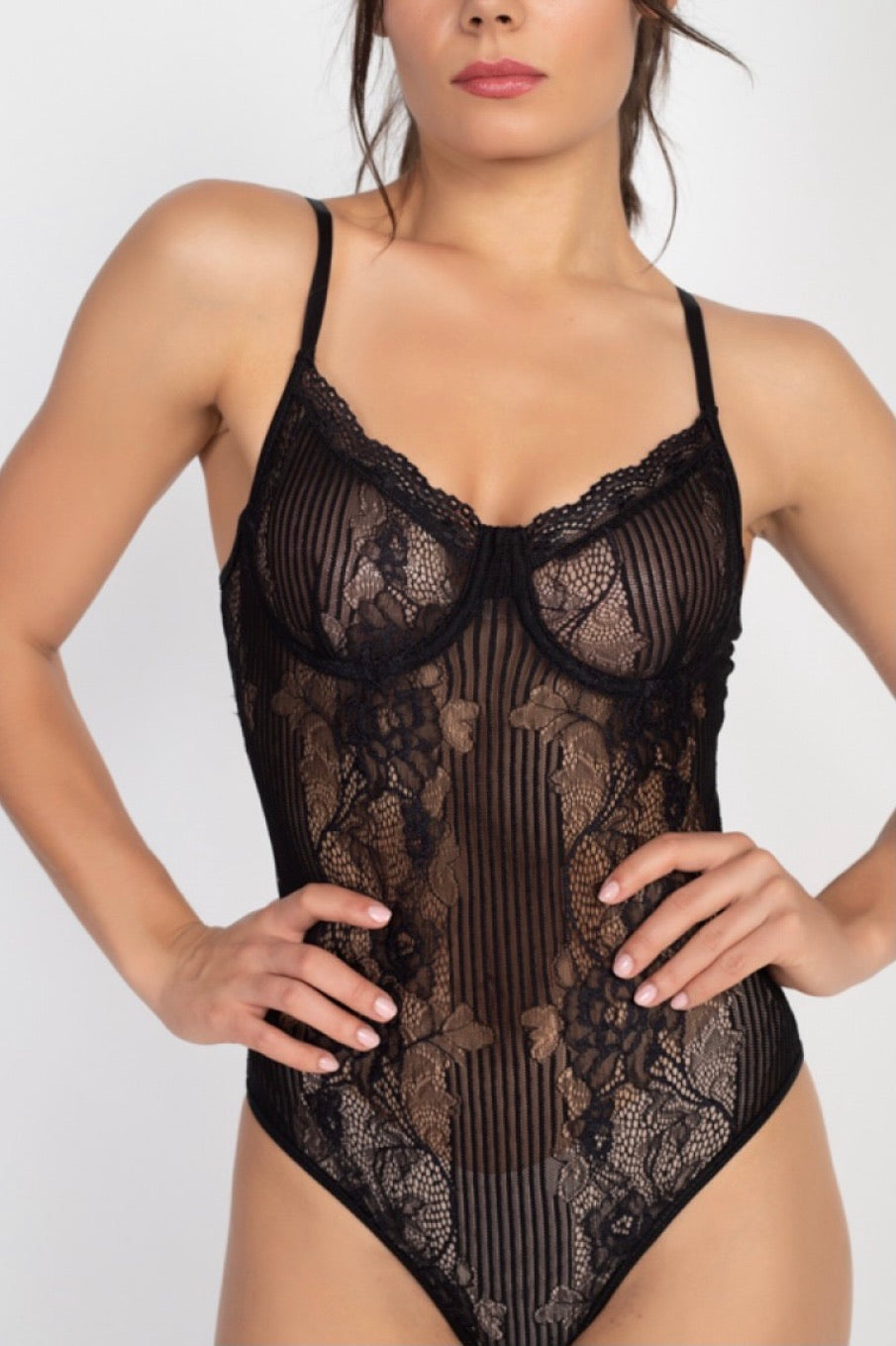 Black Sheer bodysuit 00129