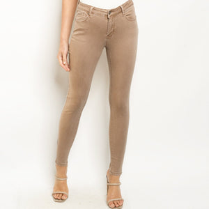 Mocha denim pants 40023
