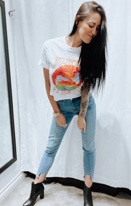 Denim Distressed bottom Jean 00031