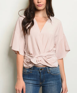 Blush wrap around top 26790