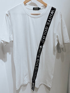 White Fashion Mens T 30047