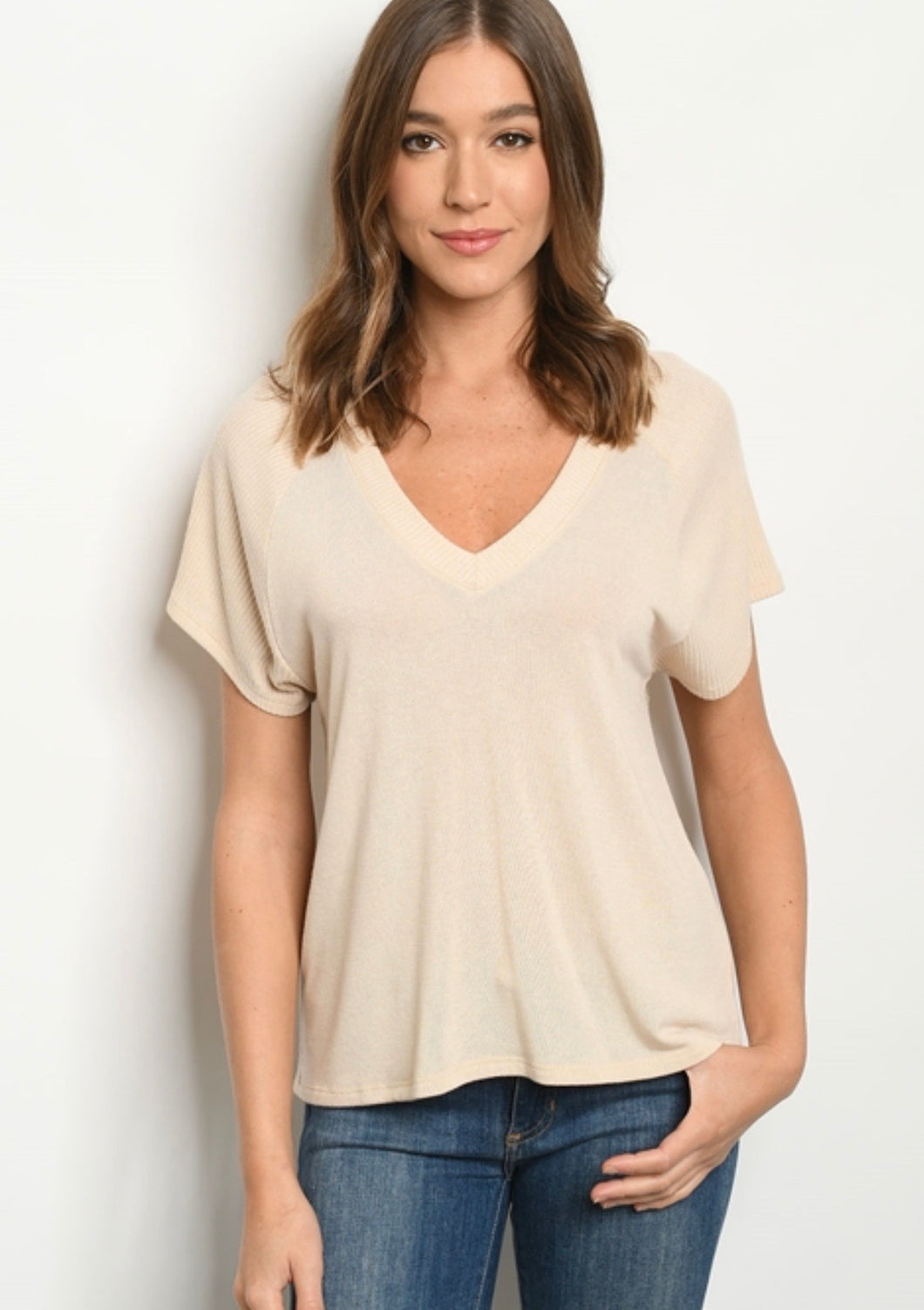 Nude Ribbed T 00060