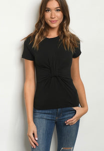 black knotted T 40672
