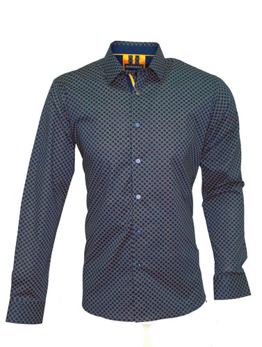 Mens Barabas blue/copper check