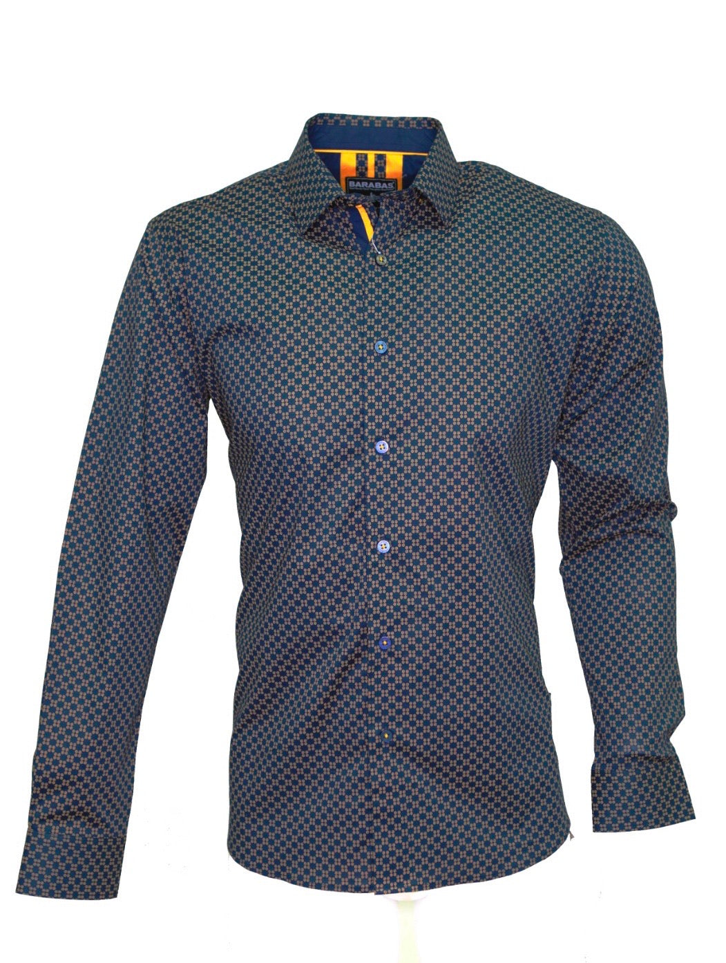 Mens Barabas blue/copper check 40030