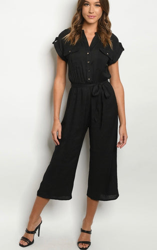 Black basic Jumpsuit 30052