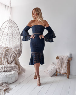 Brianna Dress In Navy