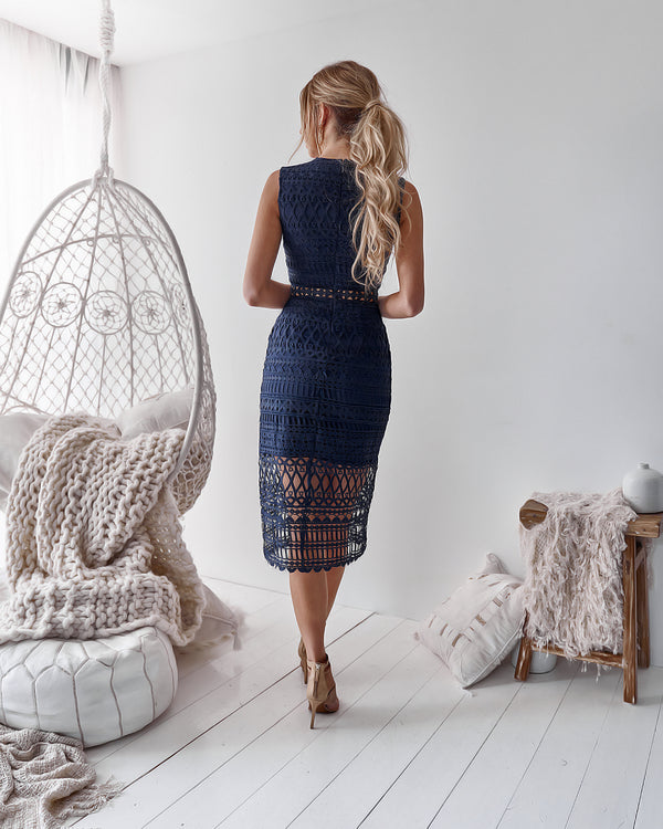 Scarlett Dress in Navy