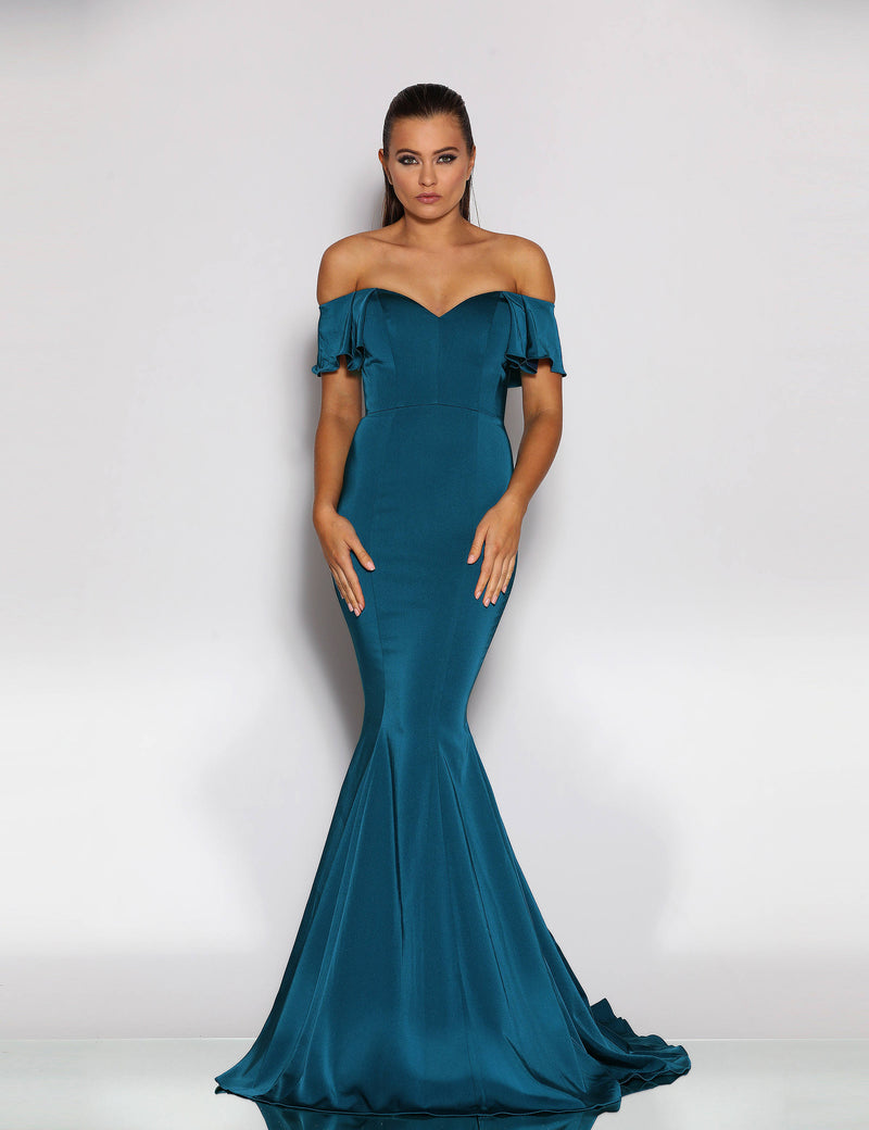 Asriel Gown by Jadore in Teal
