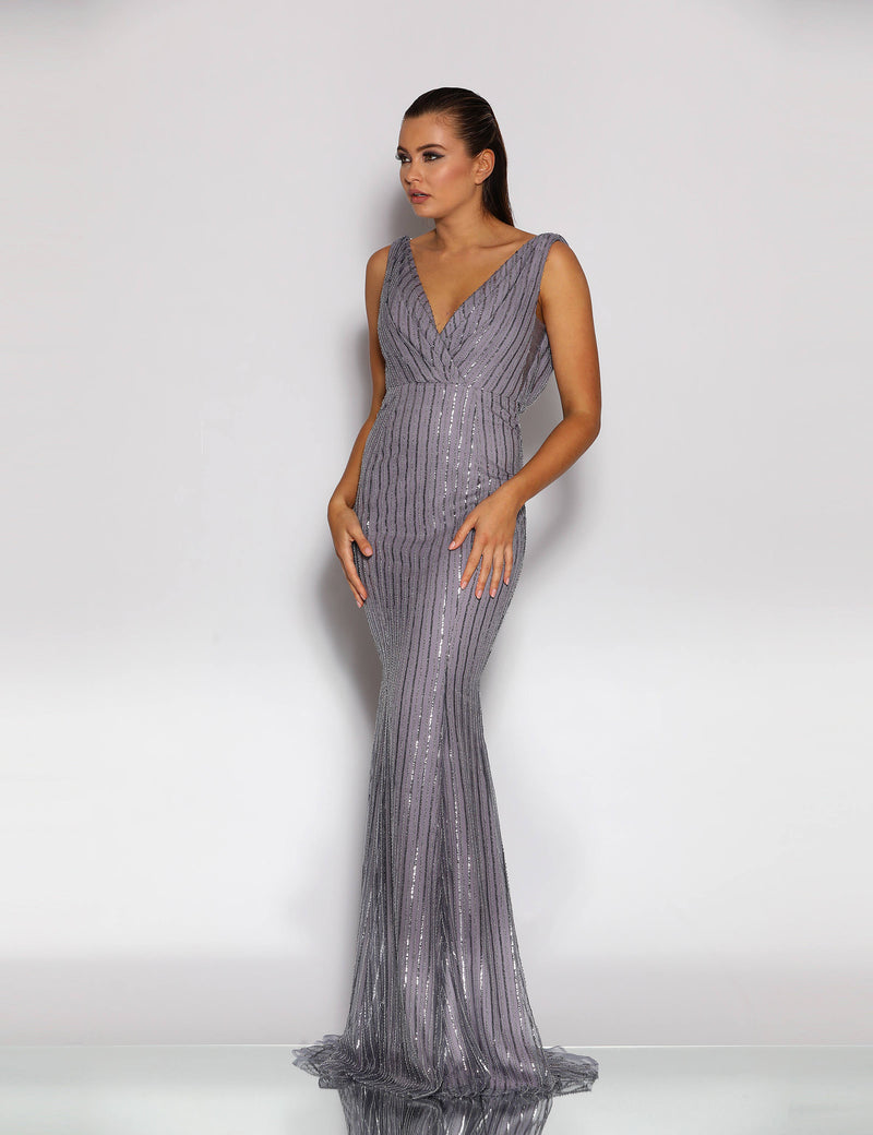 Rosella Gown By Jadore In Smoke