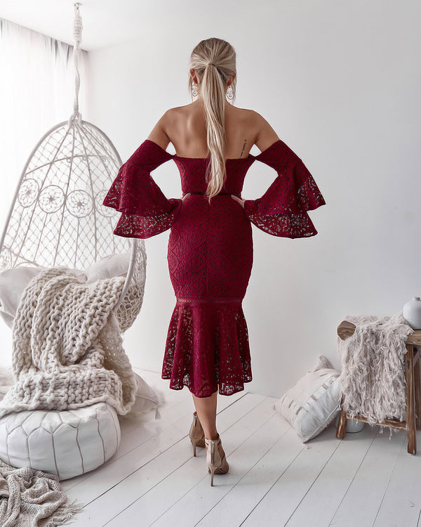Brianna Dress in Burgundy