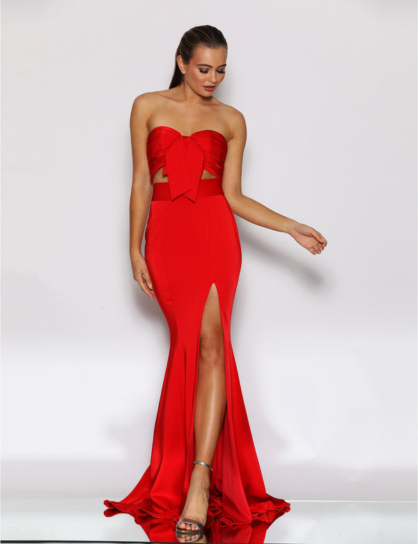 Roselyn Two Piece Set By Jadore In Red