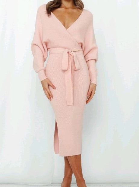 Sambara knit Dress - Blush