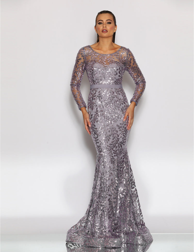 Nicole Gown by Jadore In Ice Smoke