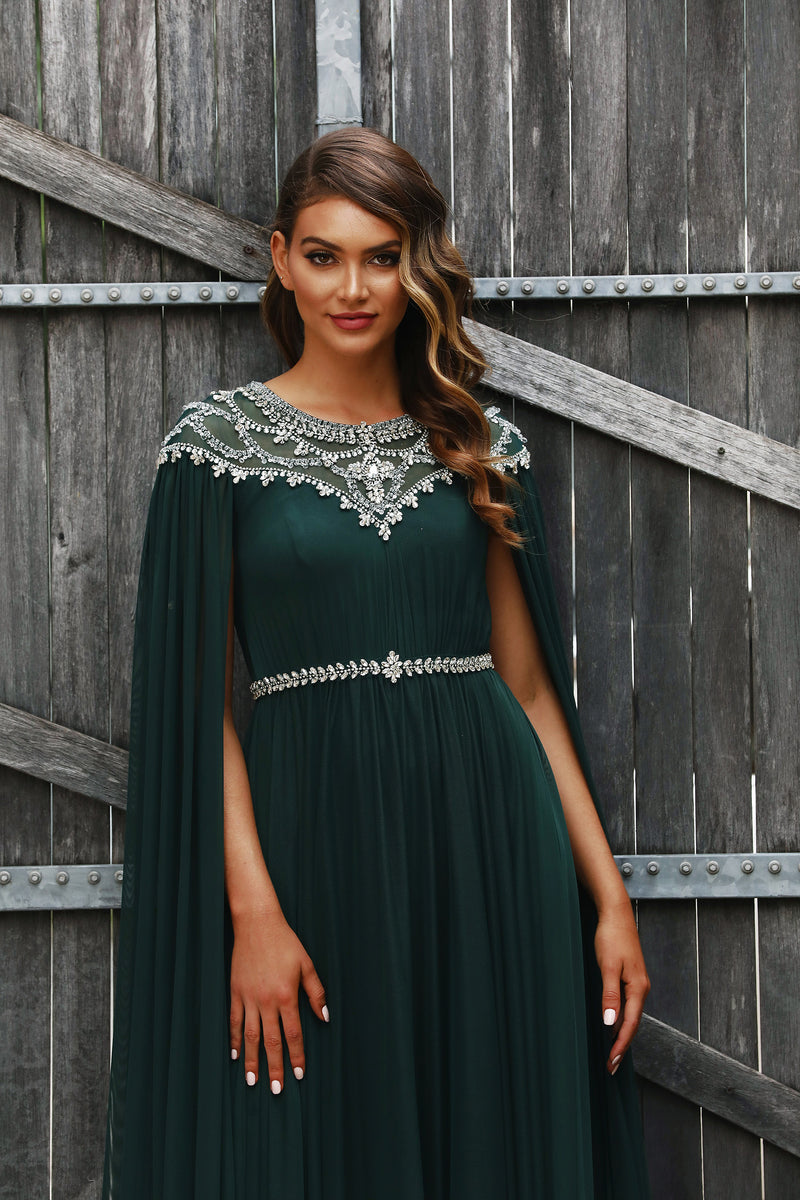 Kayla Gown By Jadore In Emerald Green