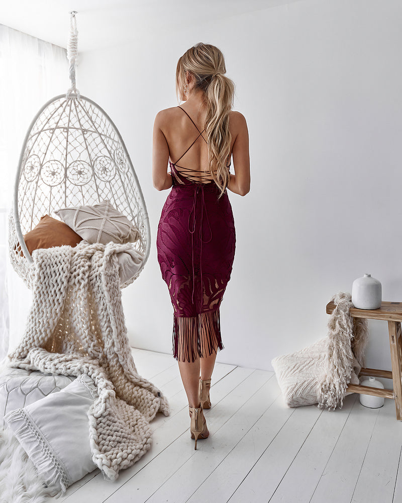 Khaleesi Dress in Mulberry