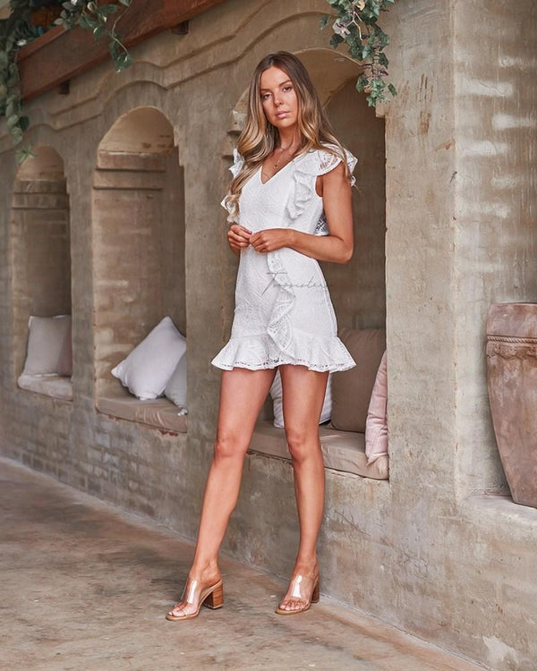 Gracie Mini  Dress In White