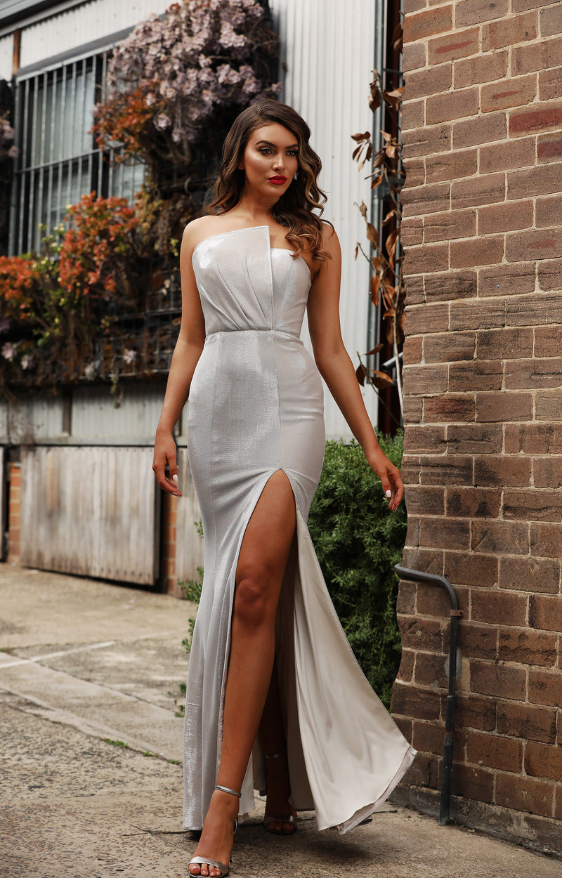 Claudia Gown By Jadore In Silver