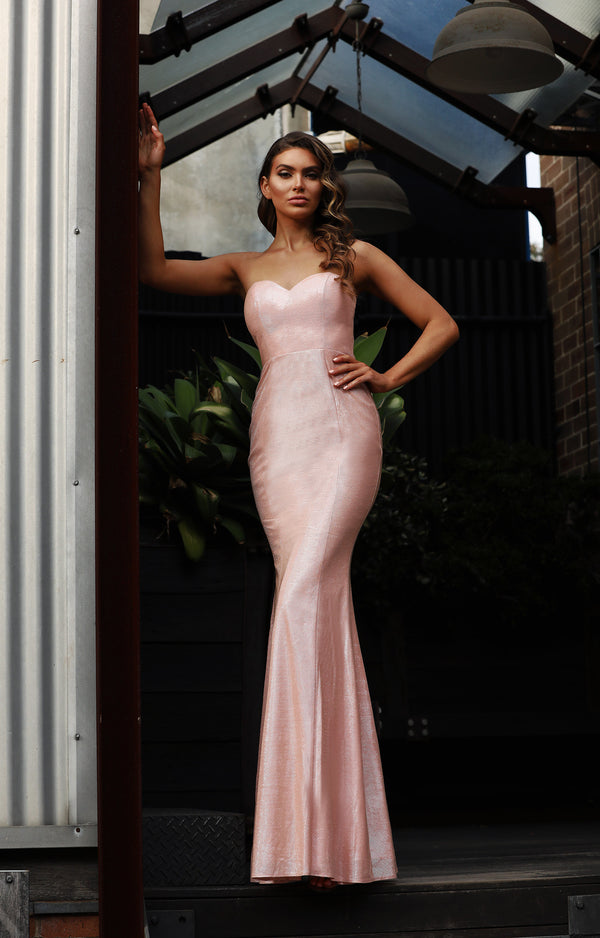 Ruby Gown by Jadore - Pearl Pink