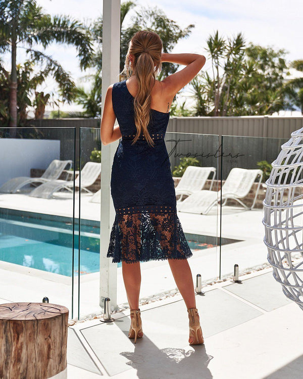 Tamara Dress in Navy