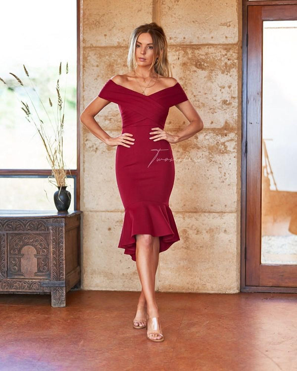 Brienne Dress In Red