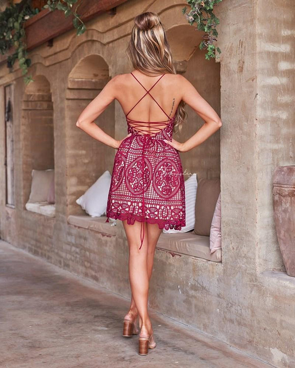 Mendoza Lace Dress In Red