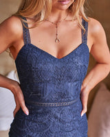 Cynthia lace Dress In Navy
