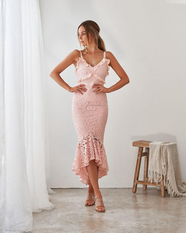 Leanne Dress In Blush