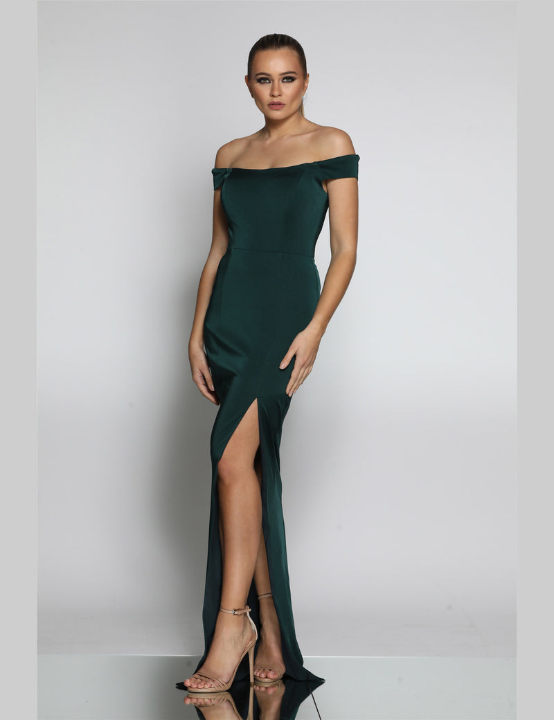 Page Gown By Jadore In Emeral Green