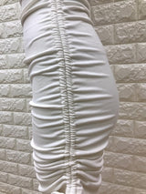 Nadine Ribbed Dress - White