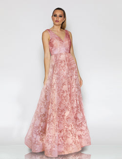 Calleen Gown by Jadore in Dusty Pink