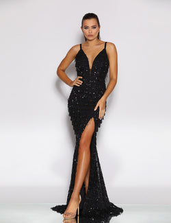 Cecilia Gown by Jadore in Black