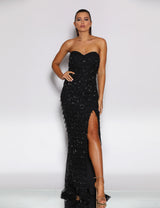 Miranda Gown by Jadore in Black
