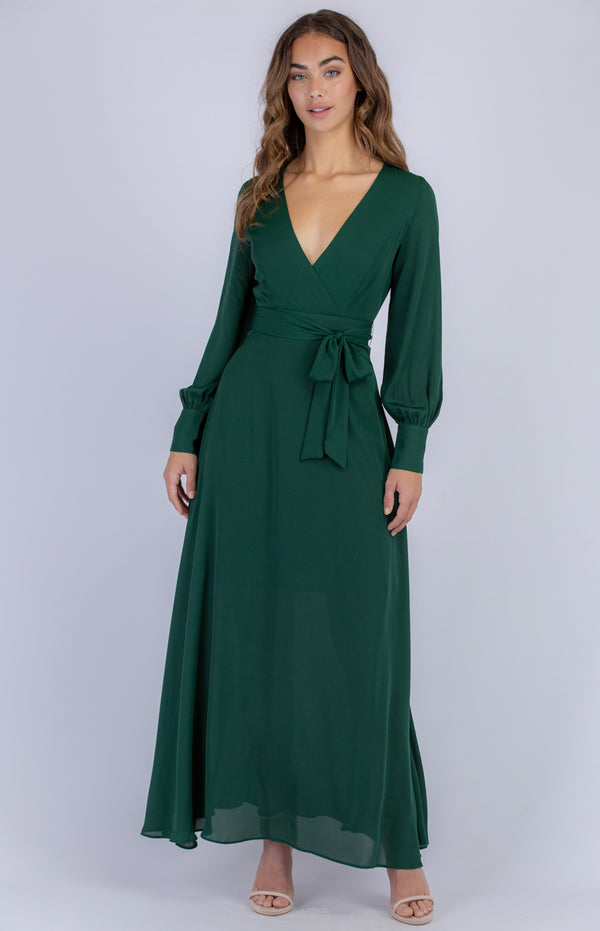 Samera Long Sleeve Maxi Dress - Emerald