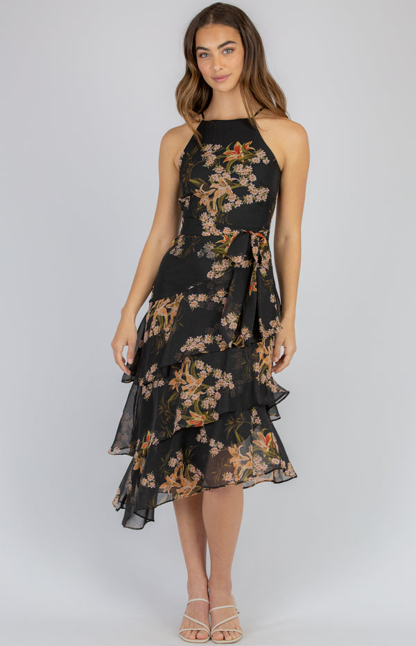 Mish Dress  - Black  Floral